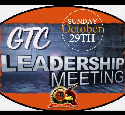Leadership meeting Oct