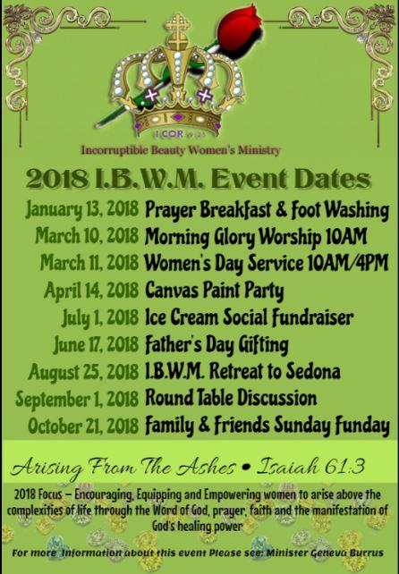 IBWM 2018 Events