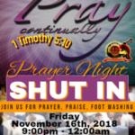 Prayer and Shut In