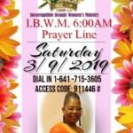 I.B.W.M Prayer Line 3-9-2019