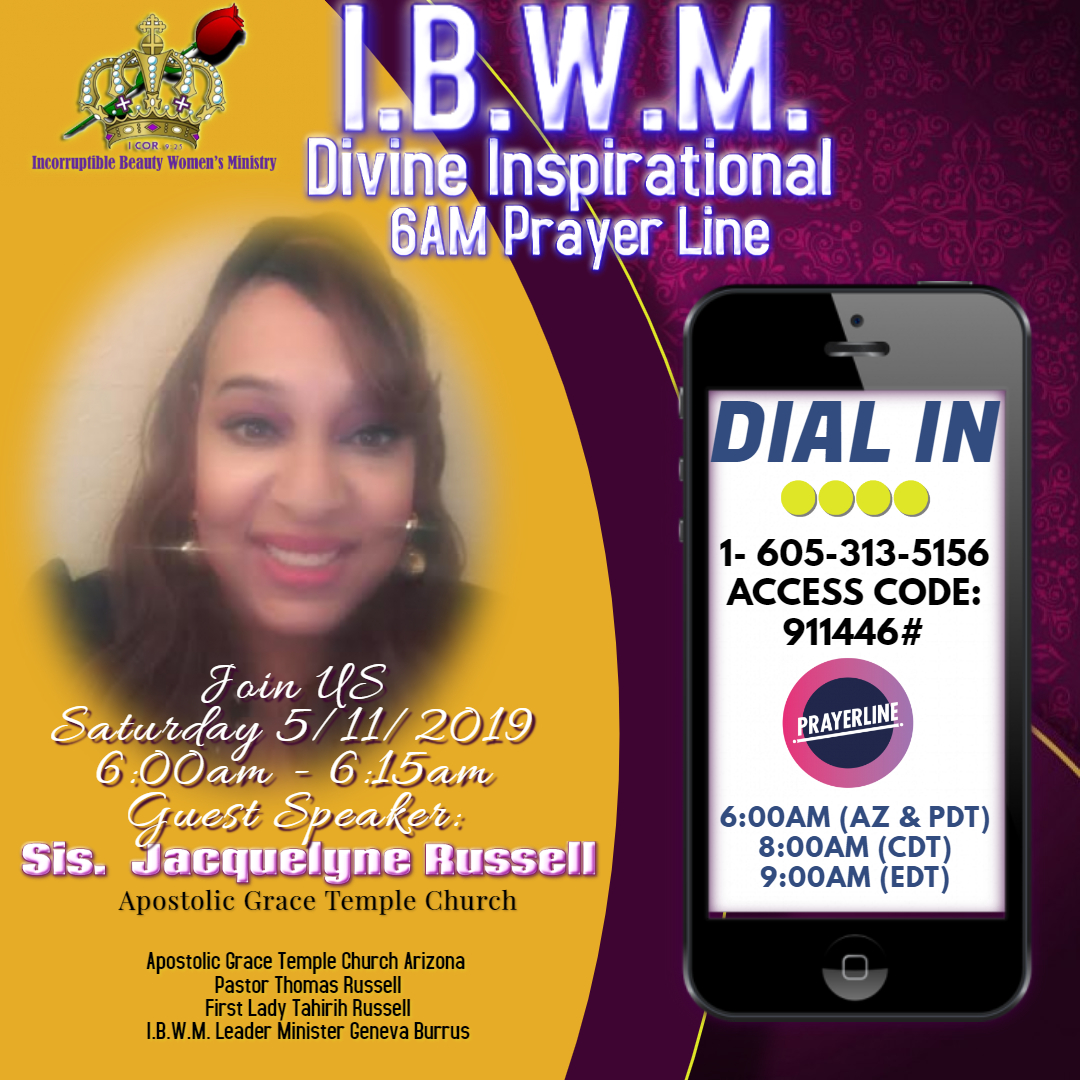 IBWM Prayer 6AM 5-11-2019