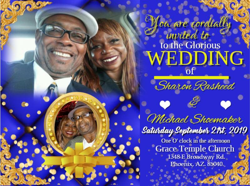 Shoemaker Wedding Invite