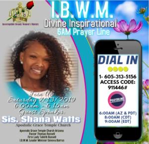 IBWM 6AM Prayer 7.13.2019
