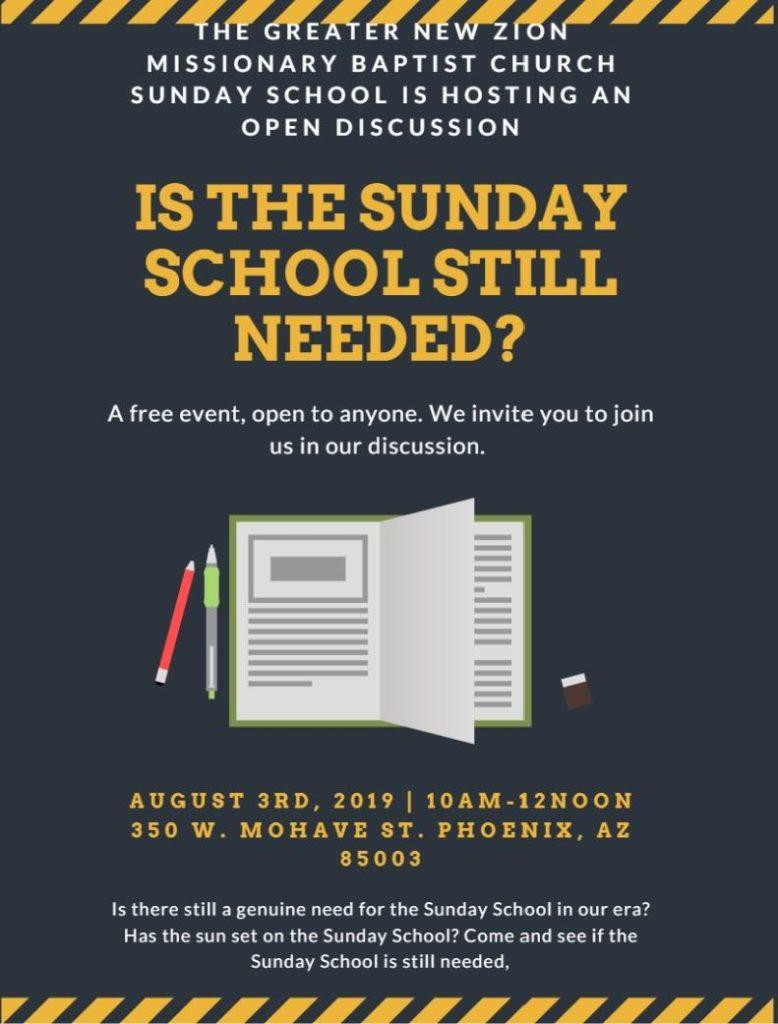 Sunday School Needed