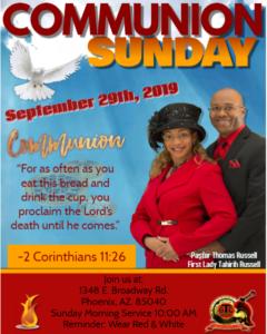Communion Sunday 2019