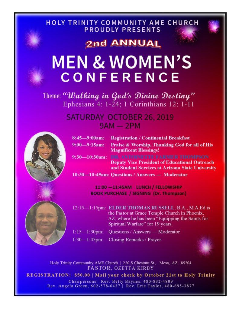 MEN & WOMEN'S CONFERENCE OCT. 26, 2019