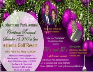 GPAC Christmas dinner flyer 2019
