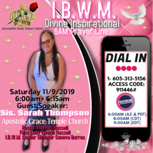 IBWM Prayer Line Nov 2019
