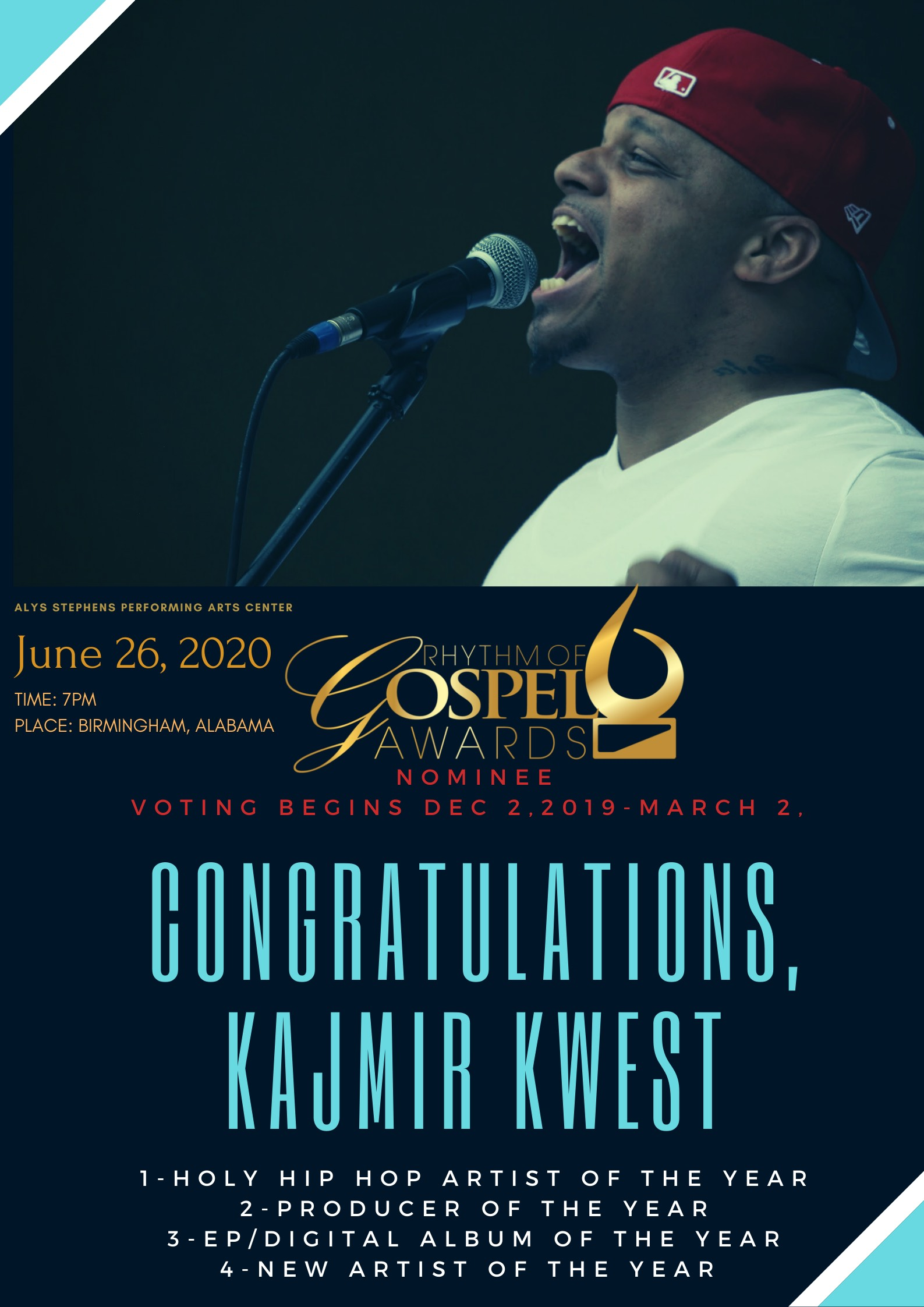Congratulations Kajmir kwest