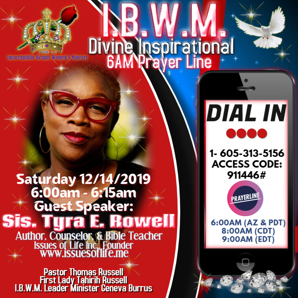 Dec 2019 IBWM Prayer Line