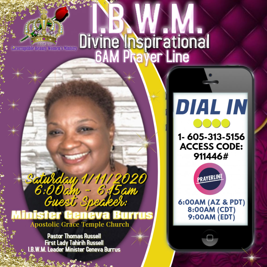 IBWM Prayer Line Jan 2020