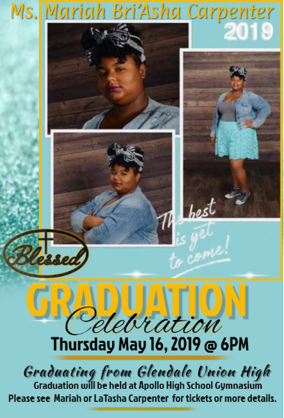 Mariah Graduation Annoucement