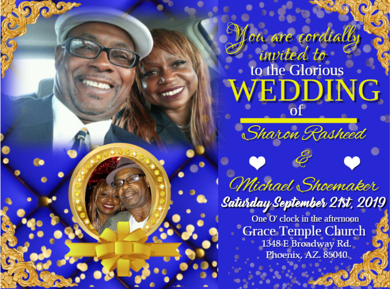 Shoemaker Wedding Invite