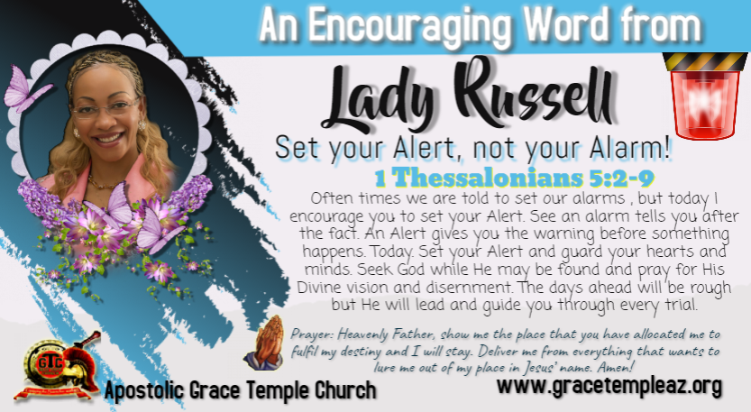 Lady Russell- Set your Alert