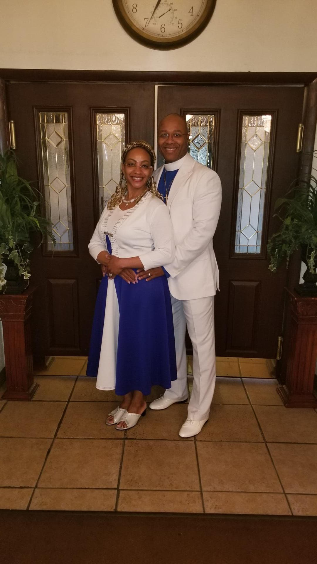 Pastor & First Lady Full White & Blue