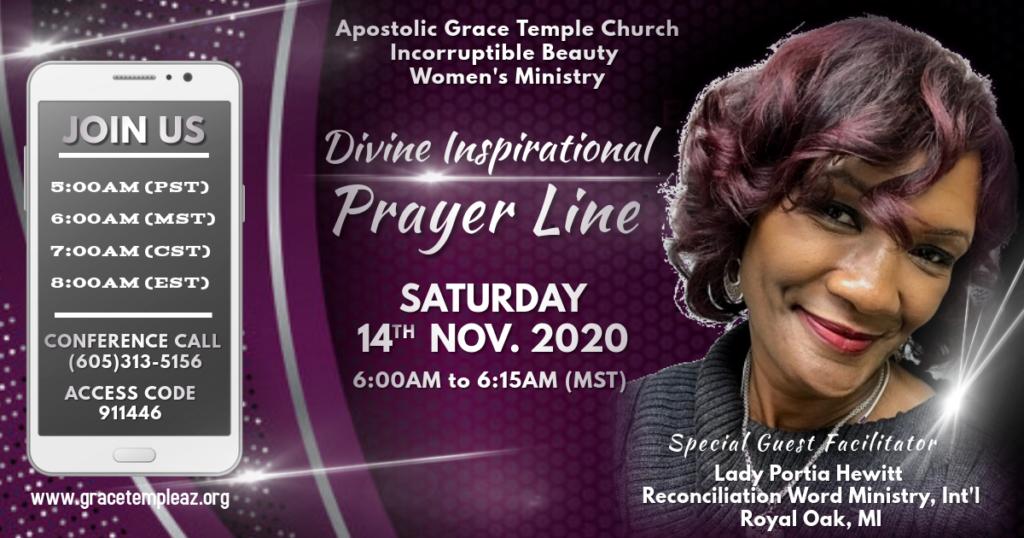 IBWM November Prayer Line 2020